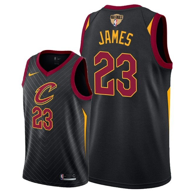 Cavaliers 23 Lebron James Black 2018 NBA Finals Nike Swingman Jersey