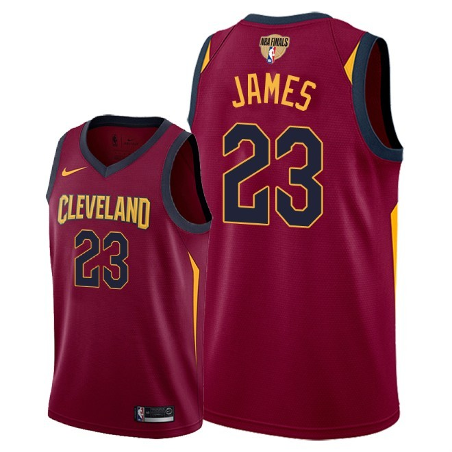 Cavaliers 23 Lebron James Red 2018 NBA Finals Nike Swingman Jersey