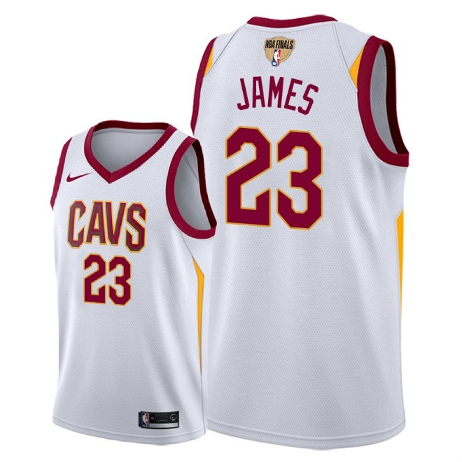 Cavaliers 23 Lebron James White 2018 NBA Finals Nike Swingman Jersey