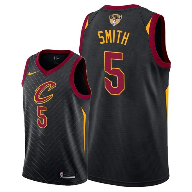 Cavaliers 5 J.R. Smith Black 2018 NBA Finals Nike Swingman Jersey