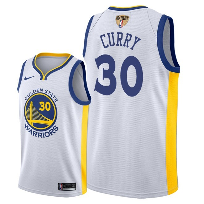 Warriors 30 Stephen Curry White 2018 NBA Finals Nike Swingman Jersey