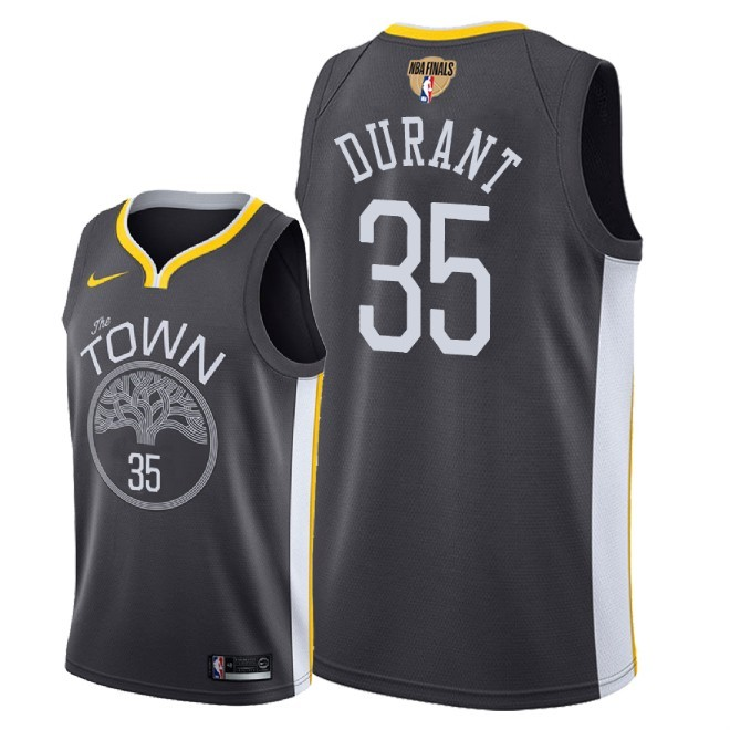 Warriors 35 Kevin Durant Black City Edition 2018 NBA Finals Nike Swingman Jersey