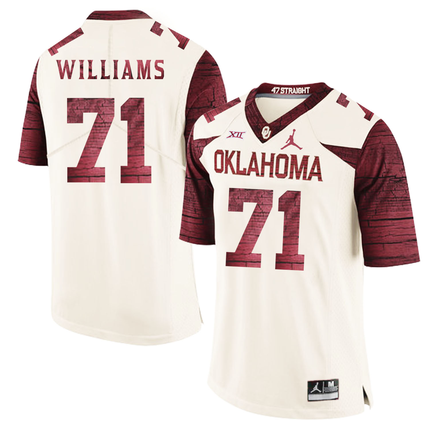 Oklahoma Sooners 71 Trent Williams White 47 Game Winning Streak College Football Jersey