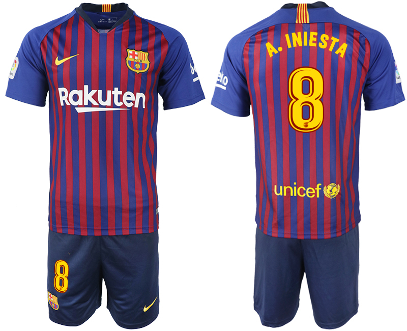 2018-19 Barcelona 8 A.INIESTA Home Soccer Jersey