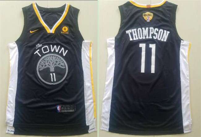 Warriors 11 Klay Thompson Black City Edition 2018 NBA Finals Nike Swingman Jersey