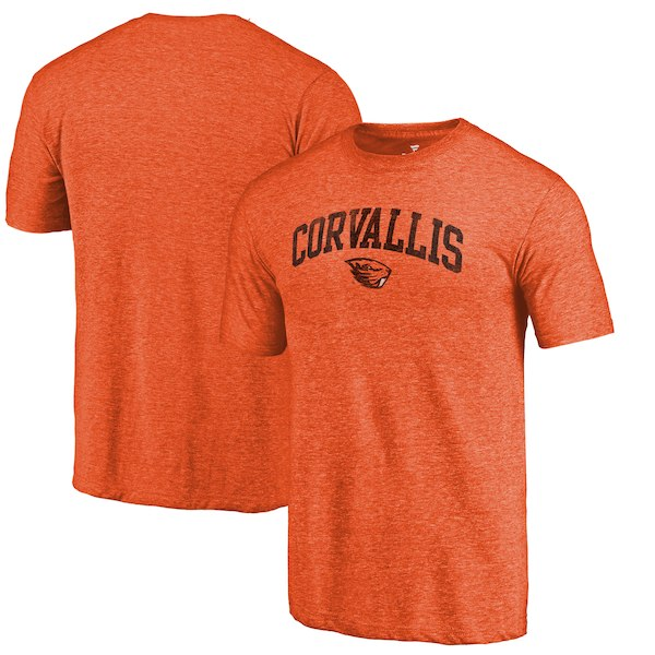 Oregon State Beavers Fanatics Branded Orange Arched City Tri-Blend T-Shirt