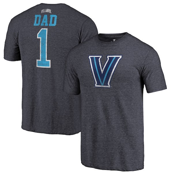 Villanova Wildcats Fanatics Branded Navy Greatest Dad Tri-Blend T-Shirt
