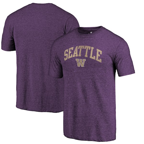 Washington Huskies Fanatics Branded Purple Arched City Tri-Blend T-Shirt