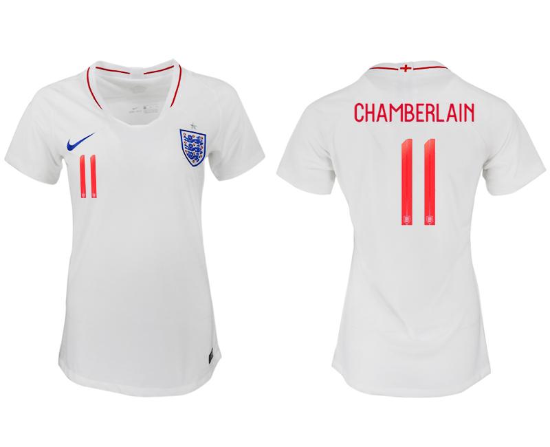 England 11 CHAMBERLAIN Home Women 2018 FIFA World Cup Soccer Jersey