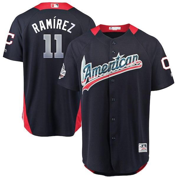 American League 11 Jose Ramirez Navy 2018 MLB All-Star Game Home Run Derby Jersey