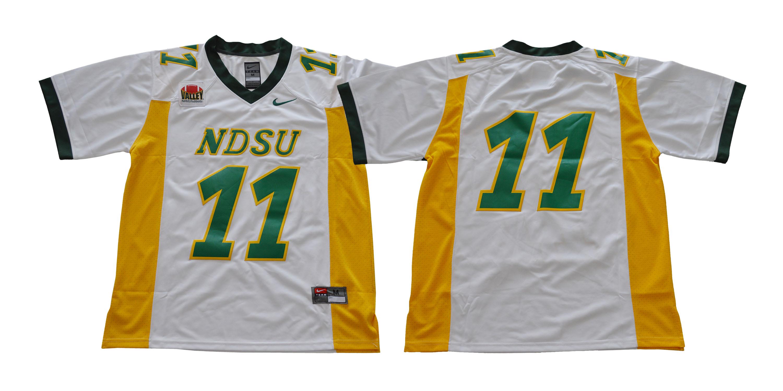 North Dakota State Bison 11 Carson Wentz White College Football Jersey