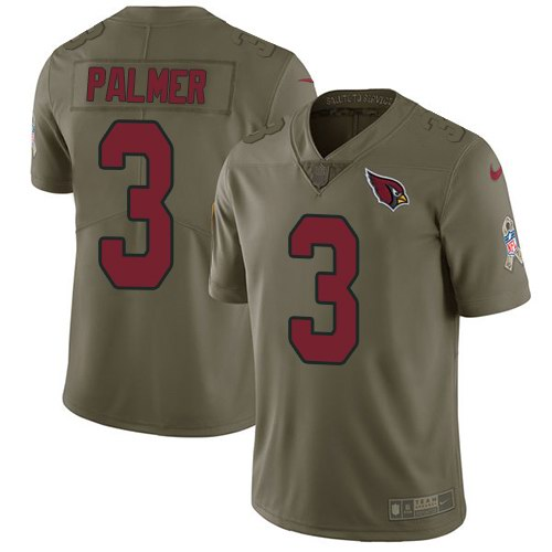 Nike Cardinals 3 Carson Palmer Olive Salute To Service Limited Jersey