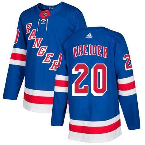 Rangers 20 Chris Kreider Blue Adidas Jersey