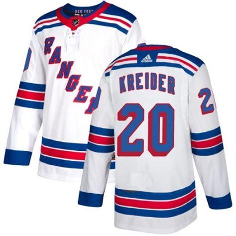 Rangers 20 Chris Kreider White Adidas Jersey
