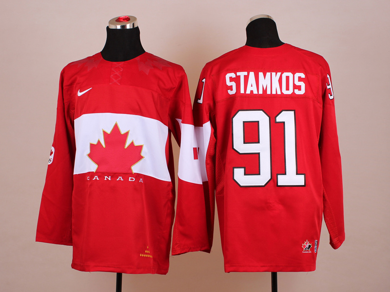 Canada 91 Stamkos Red 2014 Olympics Jerseys