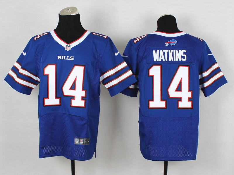 Nike Bills 14 Watkins Blue Elite Jersey