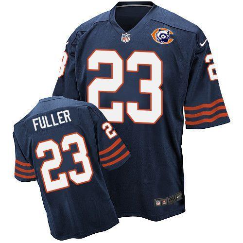 Nike Bears 23 Kyle Fuller Blue Throwback Elite Jersey