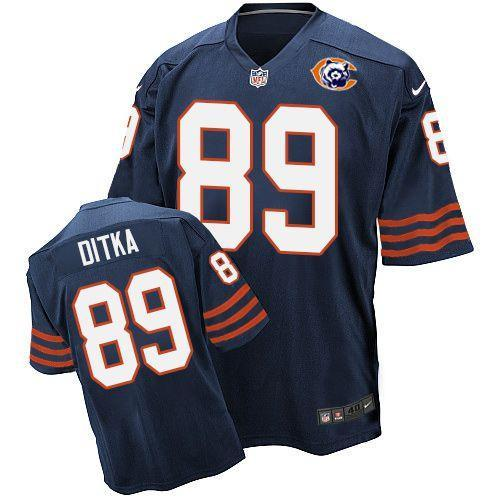 Nike Bears 89 Mike Ditka Blue Throwback Elite Jersey