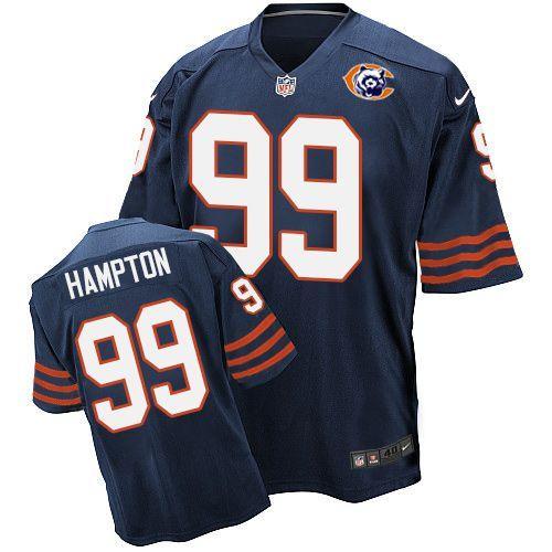 Nike Bears 99 Dan Hampton Blue Throwback Elite Jersey