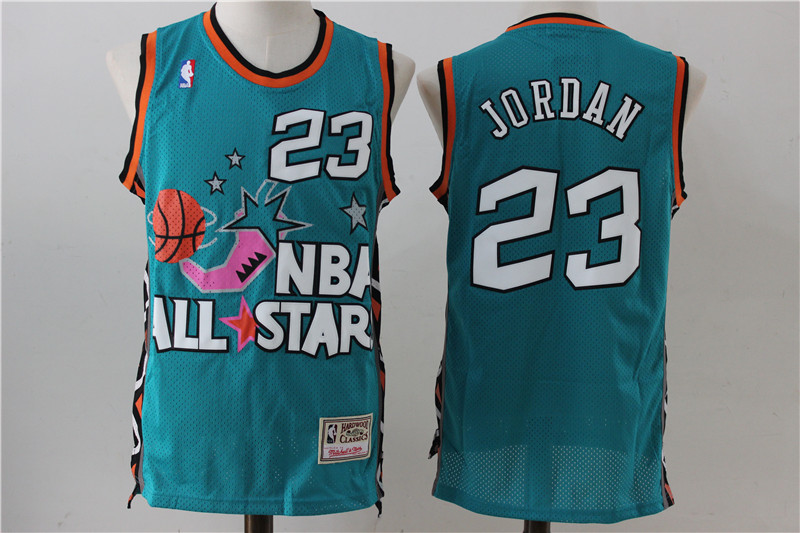 All Star 23 Michael Jordan Green Hardwood Classics Swingman Jersey