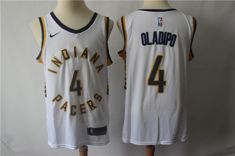 Pacers 4 Victor Oladipo White Nike Swingman Jersey