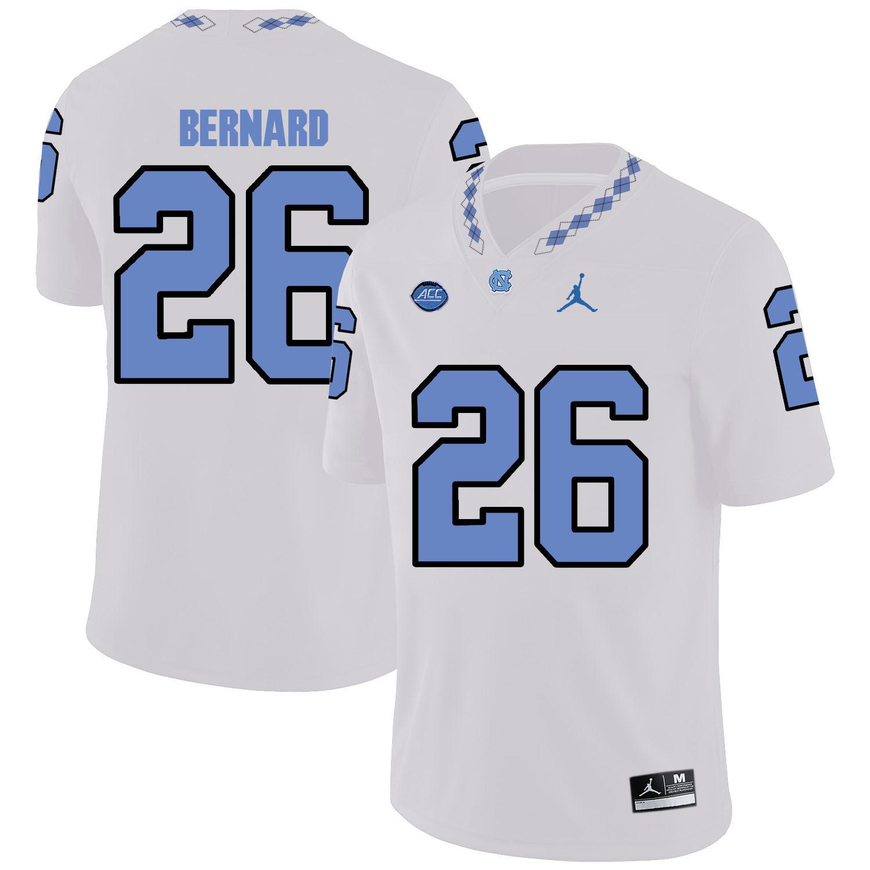 North Carolina Tar Heels 26 Giovani Bernard White College Football Jersey