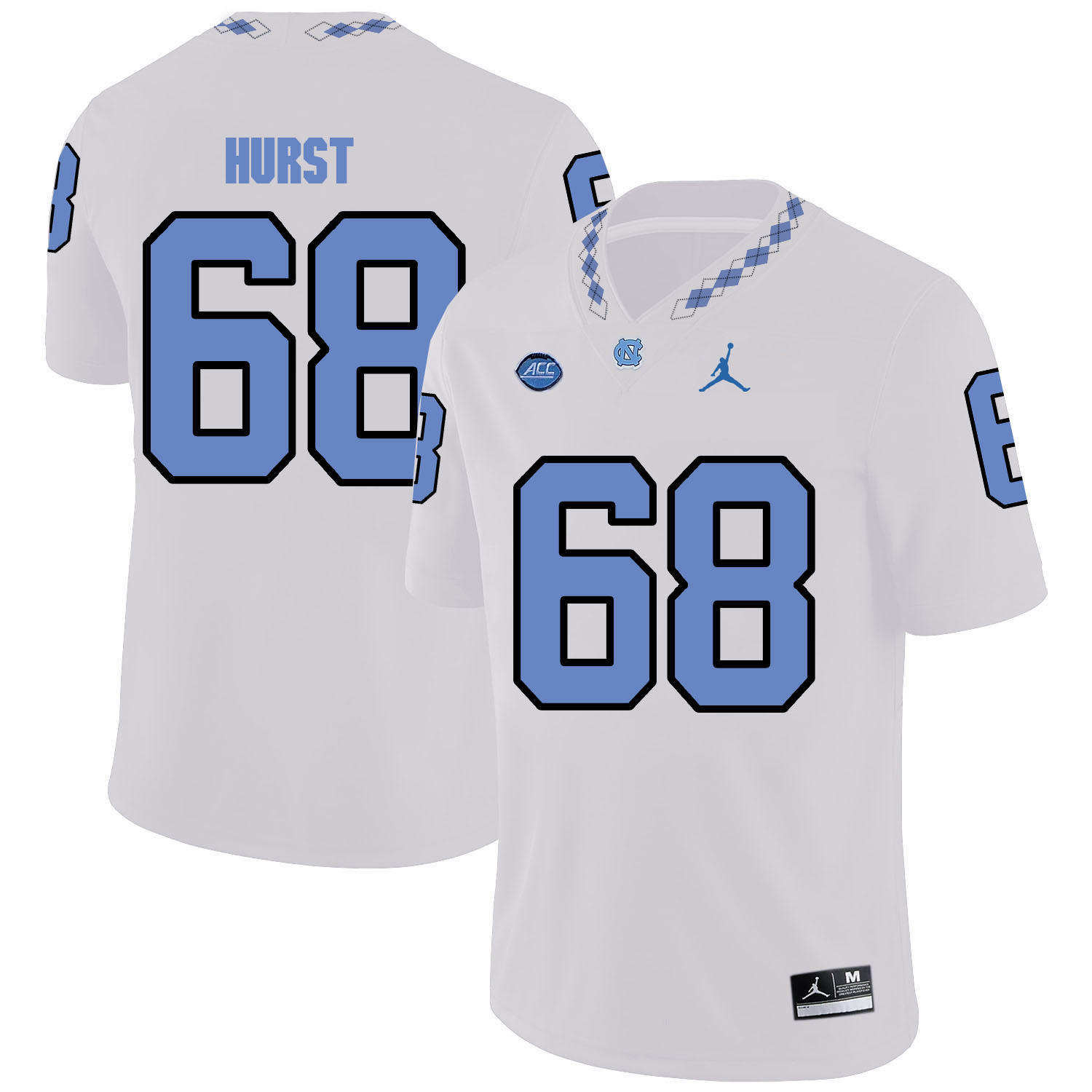 North Carolina Tar Heels 68 James Hurst White College Football Jersey