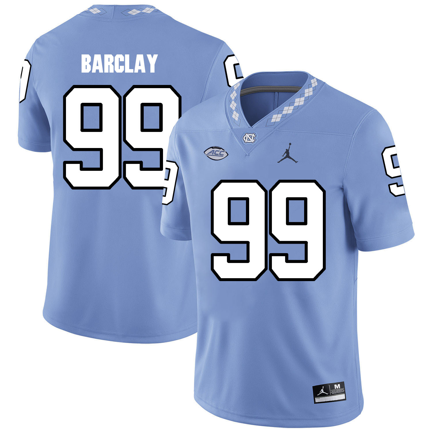 North Carolina Tar Heels 99 George Barclay Blue College Football Jersey