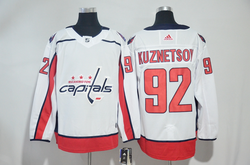 Capitals 92 Evgeny Kuznetsov White Adidas Jersey