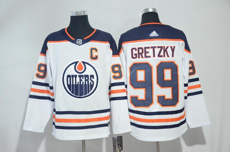 Oilers 99 Wayne Gretzky White Adidas Jersey