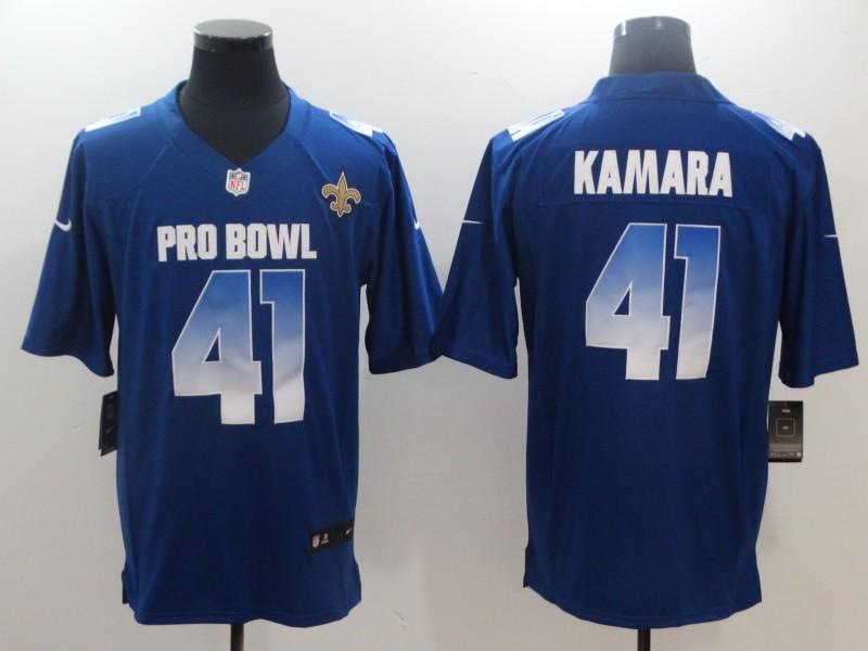 Nike NFC Saints 41 Alvin Kamara Royal 2018 Pro Bowl Game Jersey