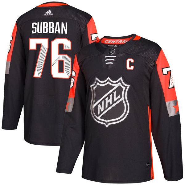 Predators 76 PK Subban Black Adidas 2018 NHL All-Star Game Central Division Authentic Player Jersey