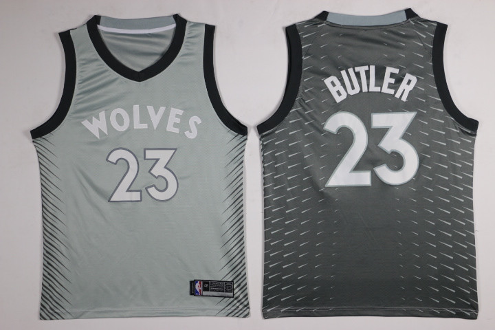 Timberwolves 23 Jimmy Butler Gray City Edition Nike Swingman Jersey