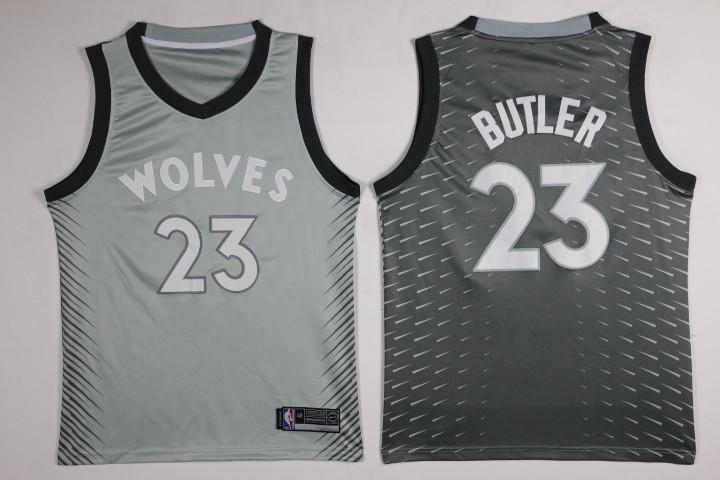 Timberwolves 23 Jimmy Butler Gray City Edition Nike Swingman Jersey