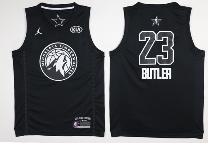 Timberwolves 23 Jimmy Butler Balck 2018 All-Star Game Swingman Jersey