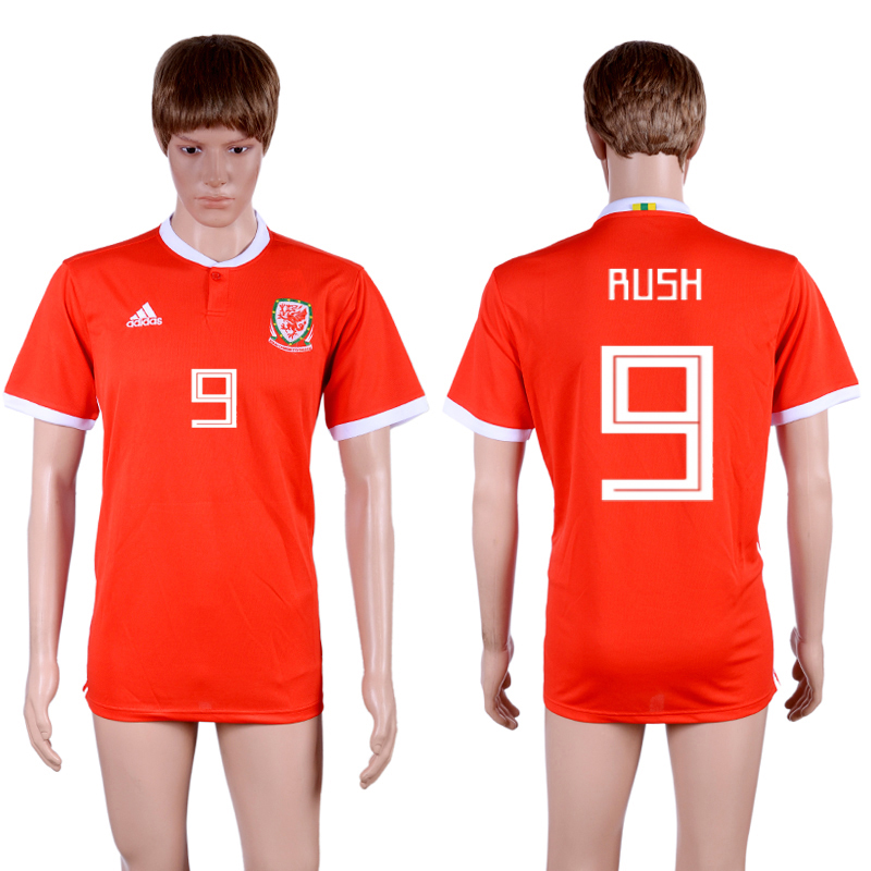 2018-19 Wales 9 RUSH Home Thailand Soccer Jersey