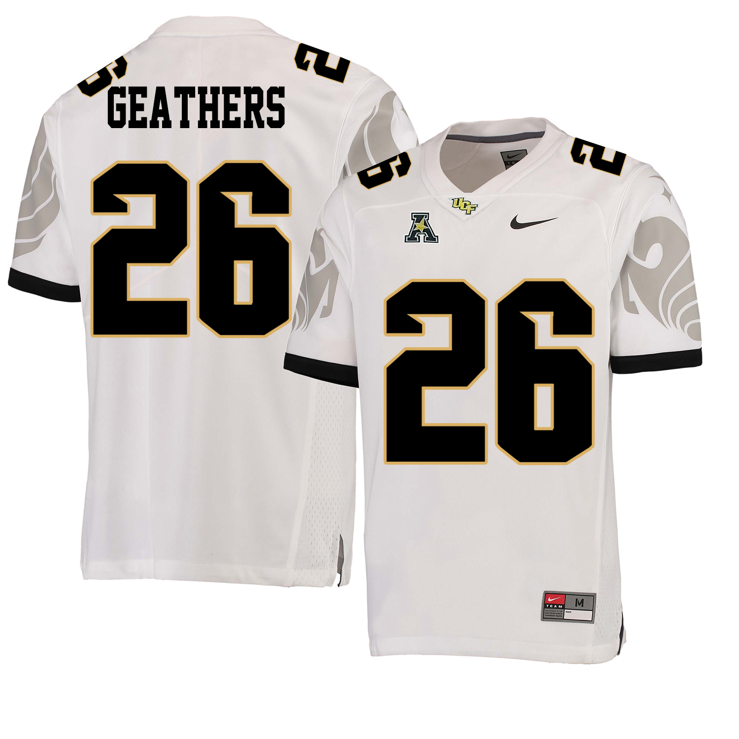 UCF Knights 26 Clayton Geathers White College Football Jersey
