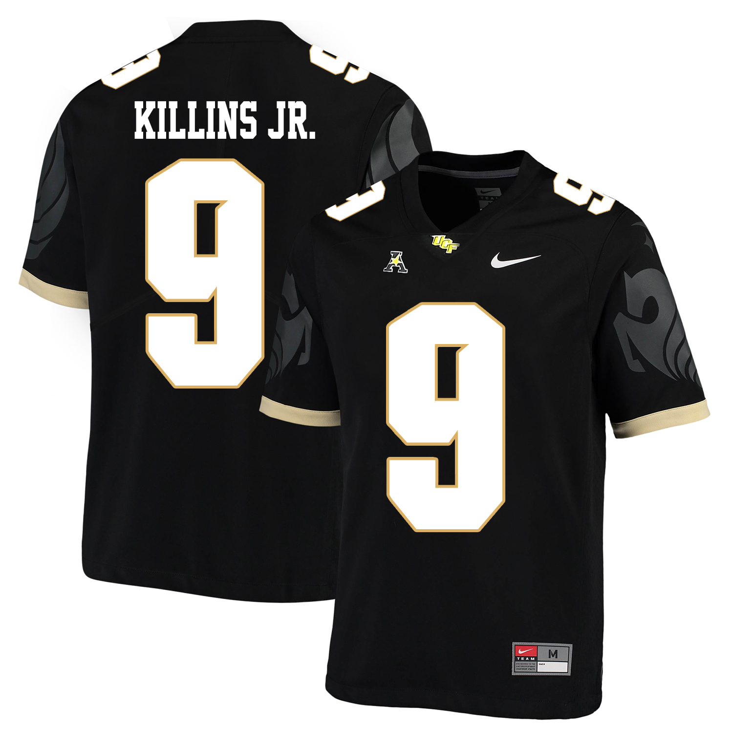 UCF Knights 9 Adrian Killins Jr. Black College Football Jersey