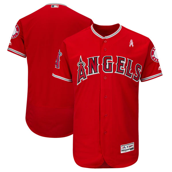 Angels Blank Red 2018 Mother's Day Flexbase Jersey