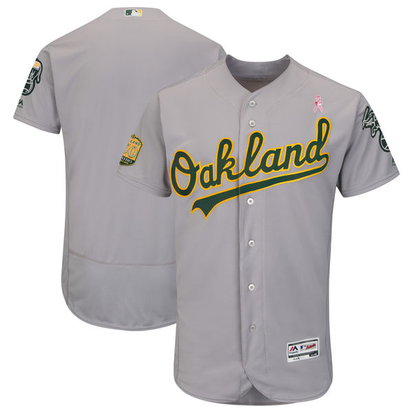 Athletics Blank Gray 2018 Mother's Day Flexbase Jersey