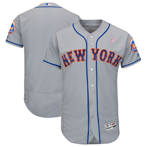 Mets Blank Gray 2018 Mother's Day Flexbase Jersey