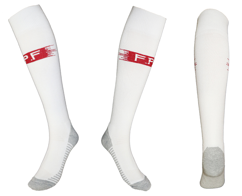 Portugal White Thailand Soccer Socks
