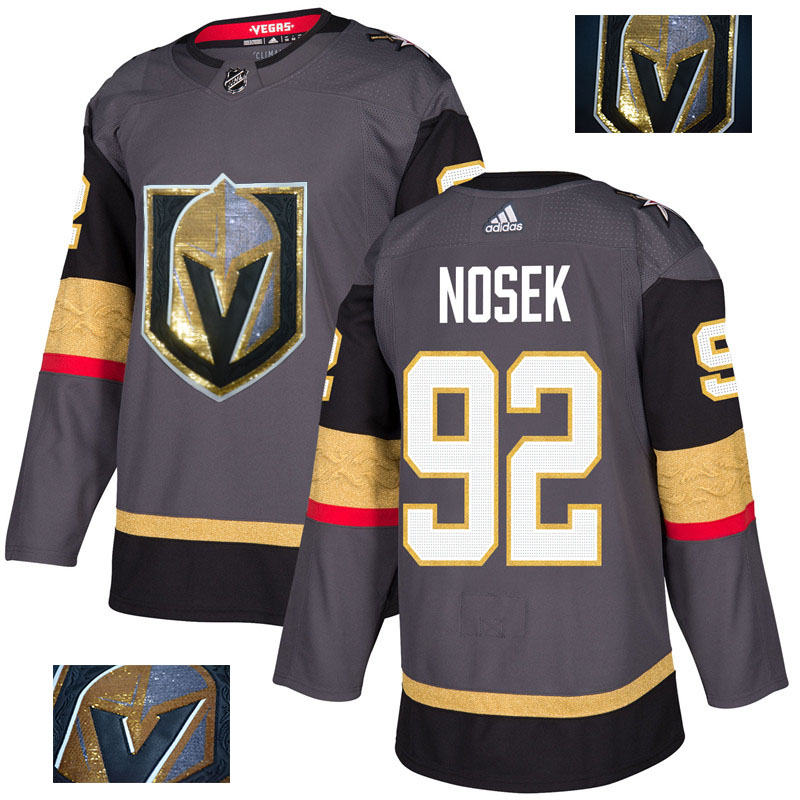 Vegas Golden Knights 92 Tomas Nosek Gray With Special Glittery Logo Adidas Jersey