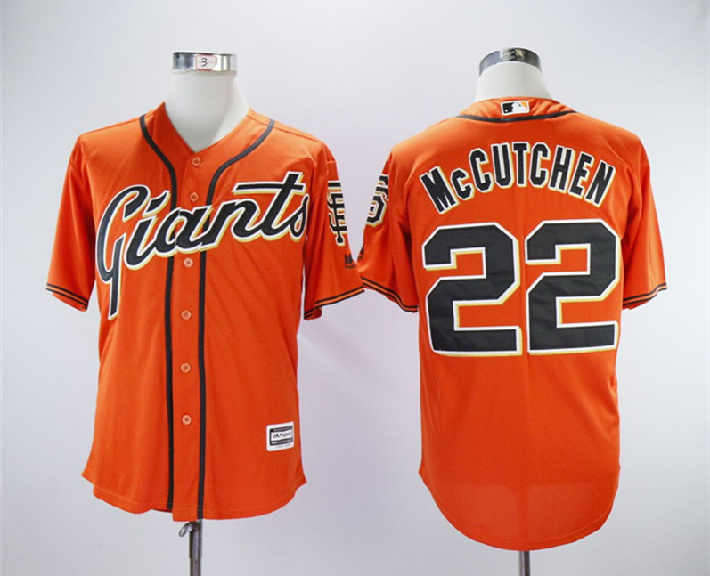 Giants 22 Andrew McCutchen Orange Cool Base Jersey