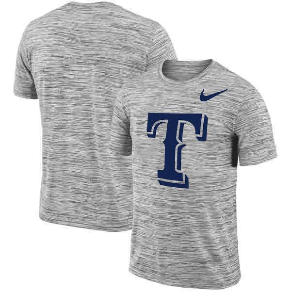 Texas Rangers Nike Heathered Black Sideline Legend Velocity Travel Performance T-Shirt