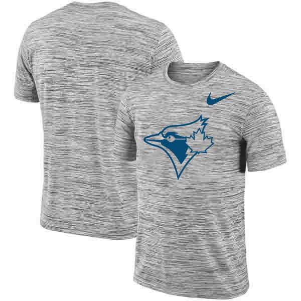 Toronto Blue Jays Nike Heathered Black Sideline Legend Velocity Travel Performance T-Shirt