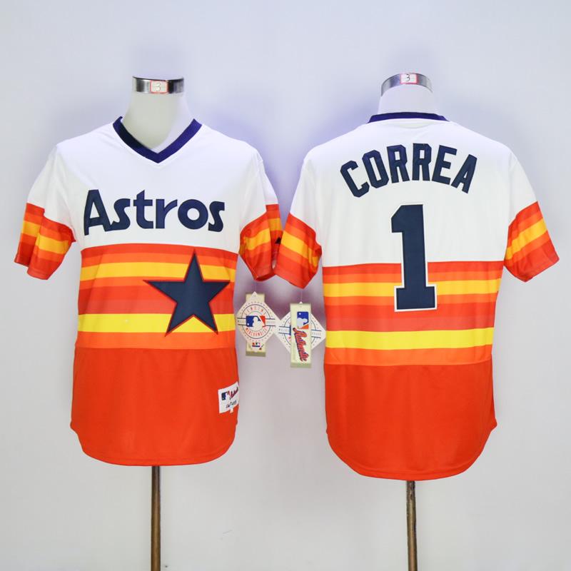 Astros 1 Carlos Correa White 1980 Turn Back The Clock Jersey