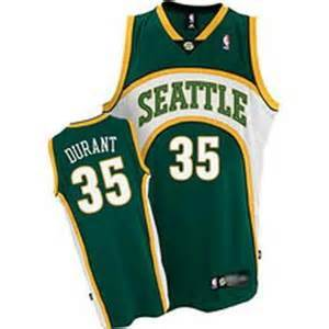 Supersonics 35 Durant Green New Revolution 30 Jerseys