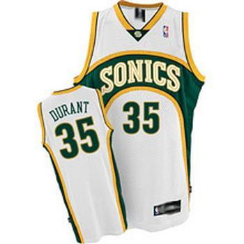 Supersonics 35 Durant White New Revolution 30 Jerseys