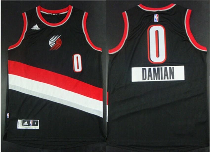 Blazers 0 Damian lillard Black 2014-15 Christmas Day Swingman Jerseys